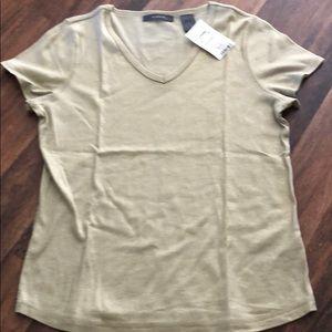 Medium woman's tan shirt